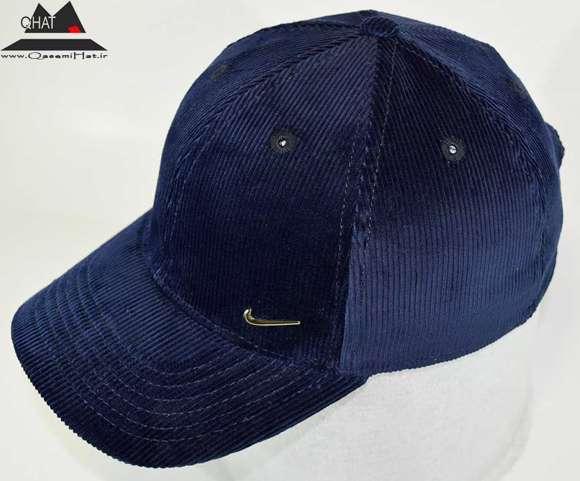 کلاه کپ نقابدار - مخمل سرمه ای
